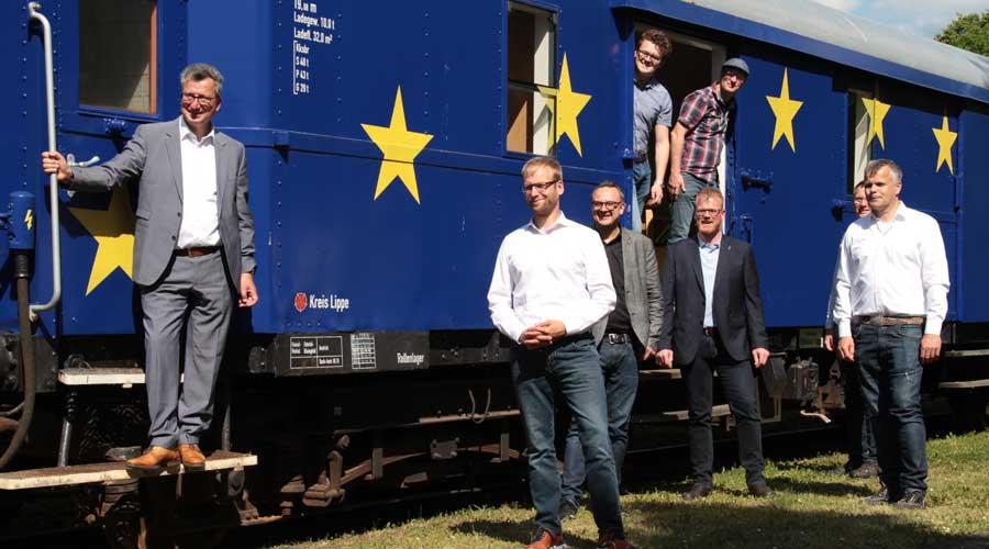 Treffen im Europazug
